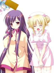 Rating: Safe Score: 9 Tags: chibi natsume_eri nurse nurse_no_obenkyou stockings thighhighs User: admin2