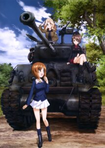 Rating: Safe Score: 29 Tags: girls_und_panzer kay_(girls_und_panzer) nishizumi_maho nishizumi_miho seifuku uniform User: drop