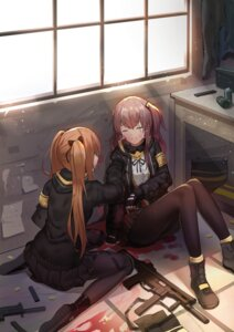Rating: Safe Score: 50 Tags: blood girls_frontline gun pantyhose tagme ump45_(girls_frontline) ump9_(girls_frontline) User: BattlequeenYume