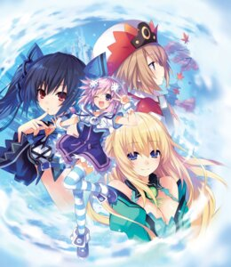 Rating: Safe Score: 70 Tags: blanc choujigen_game_neptune cleavage dress kami_jigen_game_neptune_v neptune noire thighhighs tsunako vert User: Mr_GT
