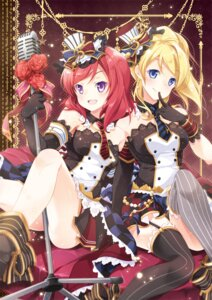 Rating: Safe Score: 48 Tags: ayase_eli love_live! mocha_(naturefour) nishikino_maki stockings thighhighs User: 椎名深夏
