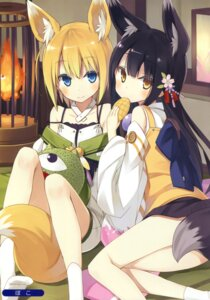 Rating: Safe Score: 90 Tags: animal_ears kitsune poco tail User: Twinsenzw
