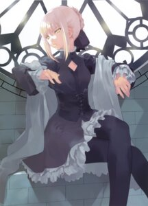 Rating: Safe Score: 61 Tags: dress fate/stay_night okazaki_takeshi pantyhose saber saber_alter User: Radioactive