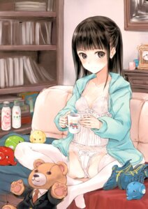 Rating: Questionable Score: 71 Tags: cleavage fujita_hidetoshi lingerie open_shirt pantsu screening thighhighs yume_no_kakera User: kiyoe