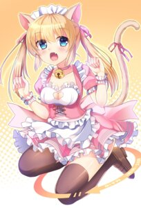 Rating: Safe Score: 32 Tags: animal_ears cleavage heels maid nekomimi tail thighhighs umitonakai User: Mr_GT