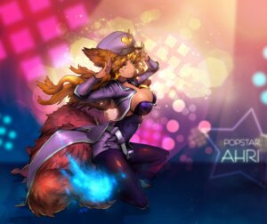 Rating: Questionable Score: 44 Tags: ahri animal_ears cleavage league_of_legends nal pantyhose tail User: ryoryu