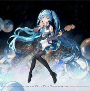 Rating: Safe Score: 37 Tags: guitar hatsune_miku heels kirayoci tattoo thighhighs vocaloid User: Mr_GT