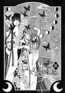 Rating: Safe Score: 4 Tags: clamp ichihara_yuuko kimono monochrome xxxholic User: charunetra