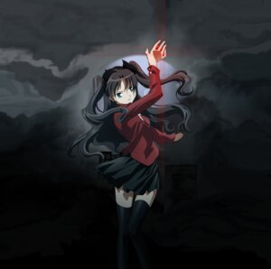 Rating: Safe Score: 12 Tags: fate/stay_night toosaka_rin vector_trace User: Radioactive
