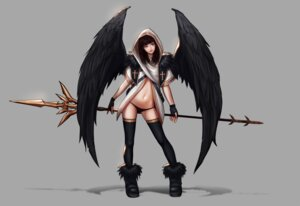 Rating: Safe Score: 34 Tags: jugon pantsu thighhighs weapon wings User: RyuZU