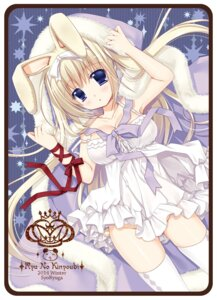 Rating: Questionable Score: 36 Tags: animal_ears bunny_ears cleavage dress nopan ryuuga_shou thighhighs User: fairyren