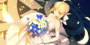 Rating: Safe Score: 66 Tags: cleavage dress fate/stay_night saber wedding_dress yangsion User: Mr_GT