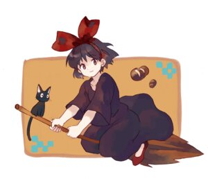 Rating: Safe Score: 10 Tags: dress jiji_(majo_no_takkyuubin) kiki majo_no_takkyuubin neko shati witch User: Radioactive