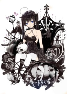 Rating: Safe Score: 56 Tags: cleavage dress halloween heels thighhighs wings yamano_(yamanoh) User: LolitaJoy