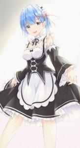Rating: Questionable Score: 15 Tags: cleavage maid re_zero_kara_hajimeru_isekai_seikatsu rem_(re_zero) skirt_lift tagme User: Dreista