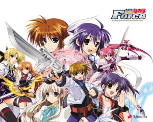 Rating: Safe Score: 9 Tags: agito fate_testarossa gun higa_yukari isis_eaglet jpeg_artifacts lily_strosek mahou_senki_lyrical_nanoha_force mahou_shoujo_lyrical_nanoha signum subaru_nakajima sword takamachi_nanoha teana_lanster thighhighs tohma_avenir wallpaper User: alimilena