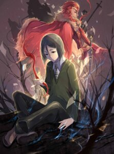 Rating: Safe Score: 11 Tags: cr fate/stay_night fate/zero rider_(fate/zero) waver_velvet User: LolitaJoy