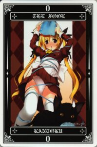 Rating: Questionable Score: 15 Tags: card kantoku pantsu tarot thighhighs User: petopeto