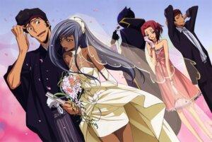 Rating: Safe Score: 25 Tags: chiba_yuriko code_geass dress kallen_stadtfeld ougi_kaname tamaki_shinichirou viletta_nu wedding_dress zero_(code_geass) User: Aurelia