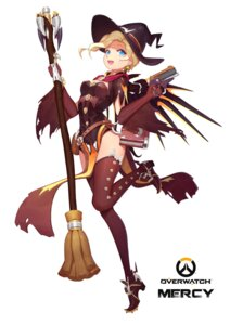 Rating: Safe Score: 40 Tags: gun halloween heels mercy_(overwatch) mosquito_coils overwatch thighhighs torn_clothes wings witch User: charunetra