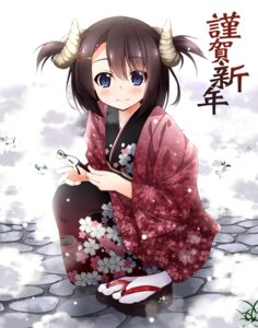 Rating: Safe Score: 29 Tags: horns kamisaki_sora kimono User: Mr_GT
