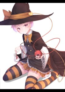 Rating: Safe Score: 47 Tags: komeiji_satori thighhighs touhou waterdog witch User: sylver650