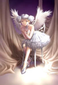 Rating: Safe Score: 16 Tags: cleavage dress wings yui_toshiki User: Radioactive