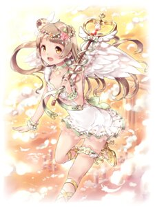 Rating: Safe Score: 43 Tags: cleavage dress garter heels love_live! minami_kotori sakuramochi weapon wings User: Mr_GT