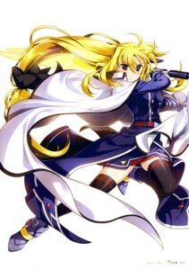 Rating: Safe Score: 26 Tags: armor fate_testarossa fujima_takuya mahou_senki_lyrical_nanoha_force mahou_shoujo_lyrical_nanoha mahou_shoujo_lyrical_nanoha_strikers mahou_shoujo_lyrical_nanoha_vivid sword thighhighs User: drop
