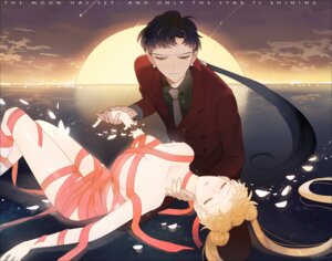 Rating: Questionable Score: 16 Tags: naked_ribbon sailor_moon seiya_kou shamko tsukino_usagi User: charunetra