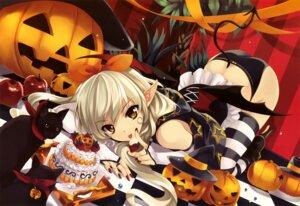Rating: Questionable Score: 97 Tags: devil halloween misaki_kurehito neko pantsu tail thighhighs wings User: Kalafina