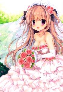 Rating: Safe Score: 21 Tags: canvas+garden cleavage dress miyasaka_miyu rina_(canvas+garden) wedding_dress User: lightsnow