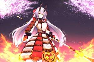 Rating: Safe Score: 14 Tags: armor fate/grand_order horns japanese_clothes sword tohoho_(hoshinoyami) tomoe_gozen_(fate/grand_order) weapon User: Nepcoheart