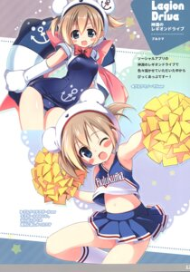Rating: Questionable Score: 18 Tags: cheerleader school_swimsuit shin'en_no_legion_drive shirt_lift swimsuits tagme User: Radioactive