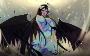Rating: Questionable Score: 51 Tags: albedo_(overlord) horns jpeg_artifacts overlord see_through wings User: MurakumoJP