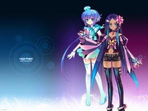 Rating: Questionable Score: 19 Tags: aoki_lapis carnelian merli studio_deen thighhighs vocaloid User: fly24