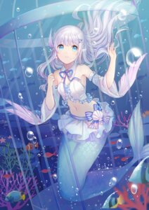Rating: Safe Score: 52 Tags: cleavage kuuki_shoujo mermaid monster_girl tagme tail the_personification_of_atmosphere User: fairyren