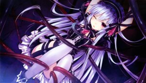 Rating: Questionable Score: 124 Tags: bondage cleavage dress fairy_fencer_f game_cg gothic_lolita jpeg_artifacts lolita_fashion stockings thighhighs tiara_(fairy_fencer_f) tsunako User: MurakumoJP