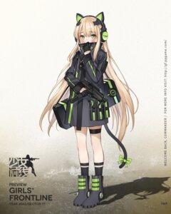 Rating: Safe Score: 35 Tags: animal_ears garter girls_frontline gun haijin headphones nekomimi tail tmp_(girls_frontline) User: Ricetaffy