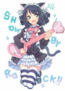 Rating: Safe Score: 43 Tags: animal_ears cyan_(show_by_rock!!) dress guitar hajime_kaname nekomimi show_by_rock!! tail thighhighs User: KazukiNanako
