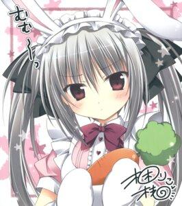 Rating: Safe Score: 36 Tags: animal_ears autographed bunny_ears hakoniwa_no_gakuen komiya_rio korie_riko maid User: Twinsenzw
