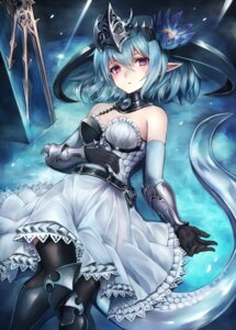 Rating: Safe Score: 51 Tags: armor dress filene inaba_sunimi pointy_ears shadowverse tail thighhighs User: BattlequeenYume
