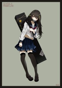Rating: Safe Score: 19 Tags: bsue girls_frontline m4a1_(girls_frontline) seifuku thighhighs User: Dreista