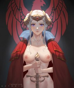 Rating: Questionable Score: 46 Tags: azto_dio edelgard_(fire_emblem) fire_emblem fire_emblem_three_houses horns naked_cape nipples sword User: Mr_GT
