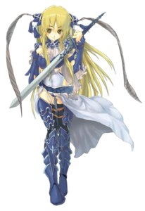 Rating: Safe Score: 11 Tags: armor ka-san sangokushi_taisen shuki sword thighhighs User: Kaixa