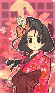 Rating: Safe Score: 8 Tags: fujitsubo-machine kichiemo kimono paper_texture User: kyoukai\shiki