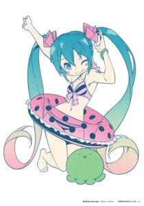 Rating: Safe Score: 43 Tags: bikini hatsune_miku kanzaki_hiro swimsuits tabgraphics vocaloid User: fireattack