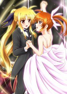 Rating: Safe Score: 16 Tags: diesel dress fate_testarossa mahou_shoujo_lyrical_nanoha takamachi_nanoha wedding_dress yuri User: 椎名深夏