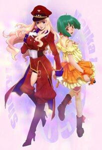 Rating: Safe Score: 8 Tags: macross macross_frontier pandaun ranka_lee sheryl_nome User: Radioactive