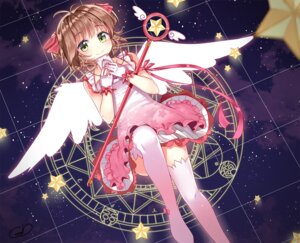 Rating: Safe Score: 42 Tags: card_captor_sakura dress gendo0032 jan_(artist) thighhighs weapon wings User: Zenex